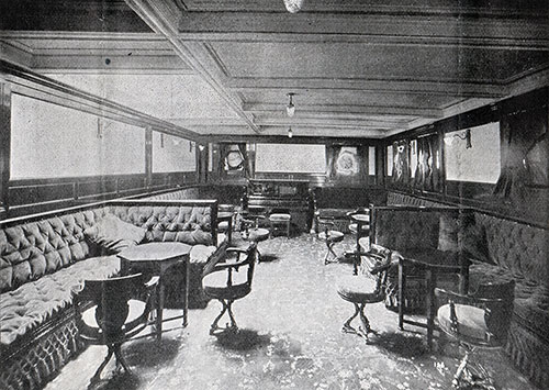 Second Cabin Music Room on the SS Corsican
