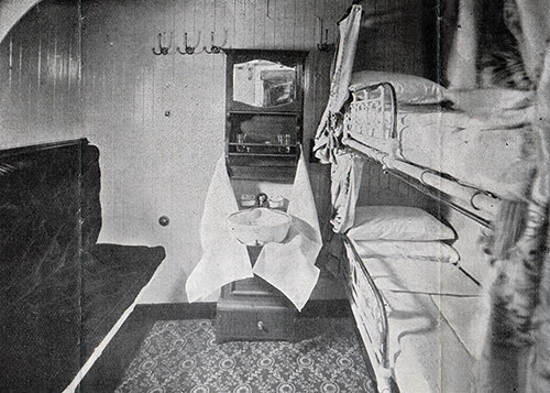 Second Cabin Stateroom with Two Berths on the SS Corsican