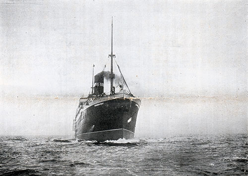 Photo of the SS Corsican on a Journey between Great Britain and Canada. Circa 1908.