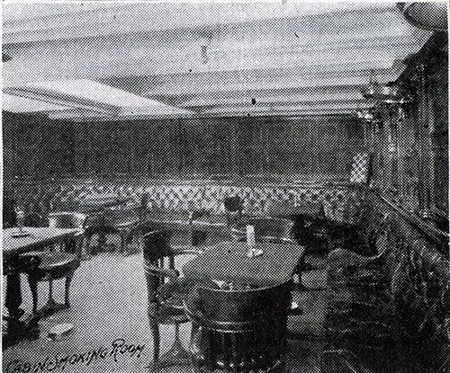 Cabin Class Smoking Room on an American Line Steamship circa 1907