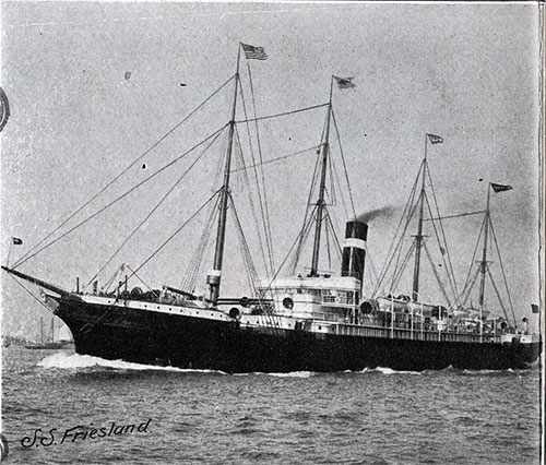 American Line Steamer SS Friesland 7,100 Tons