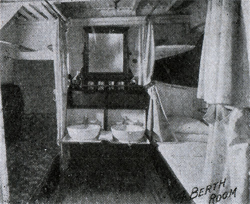 One-Berth Room on an American Line Steamer circa 1907