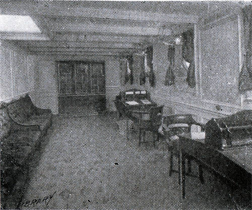 The Library on an American Line Steamship circa 1907