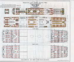 SS New York Cabin Deck Plan