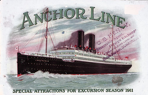Front Cover, Anchor Line Special Attractions for Excursion Season 1911.