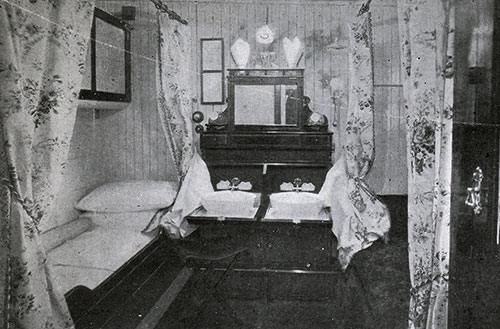 View of a Stateroom onboard an Anchor Line Steamship