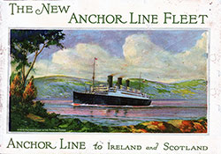 Front Cover, The New Anchor Line Fleet to Ireland and Scotland. 1926 Brochure.