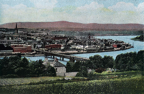View of the Port of Londonderry circa 1904.