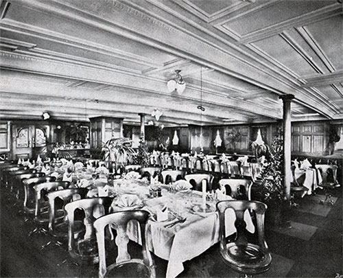 Cabin Dining Room -- Steamers Polonia and Latvia
