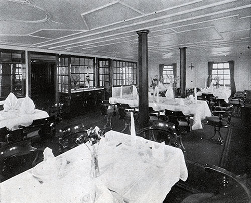First-class Dining Room -- Steamers Estonia and Lituania