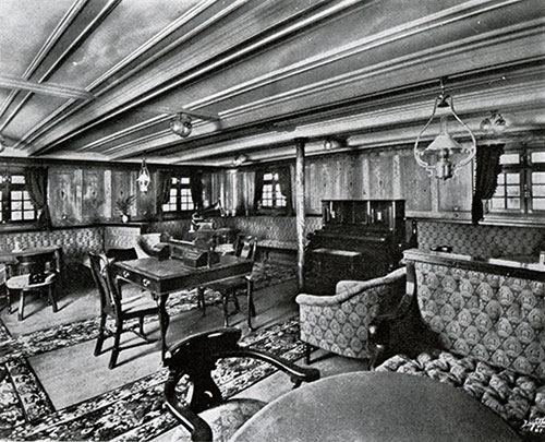 First-class Ladies' Salon and Music Room -- Steamers Polonia and Latvia