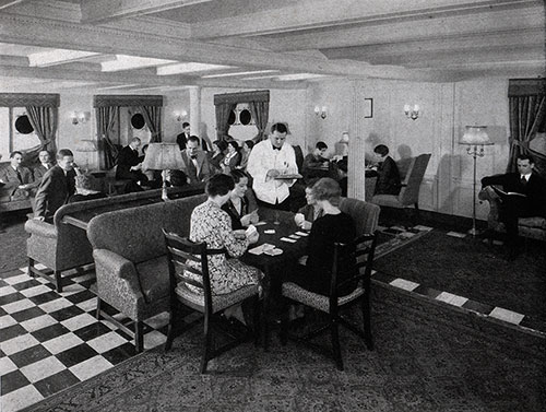 Passenger Lounge on the Promenade Deck of a Baltimore Mail Line Steamship