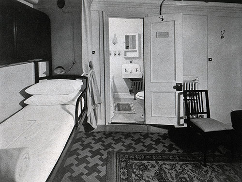 Stateroom with Bath on a Baltimore Mail Line Steamship