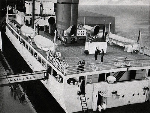 View of the Boat Deck Taken from the Landing Stage