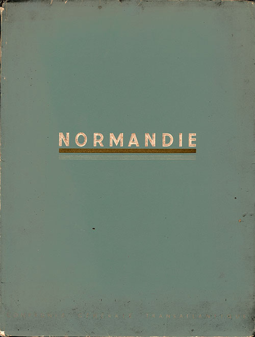 "Front Cover of 1937 Booklet ""Normandie"" from Compagnie Générale Transatlantique - French Line."