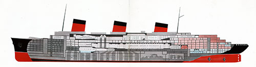 "The Plan of the Ocean Liner ""Normandie."""