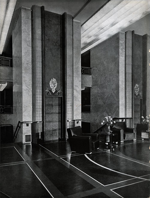 First Class Social Hall.