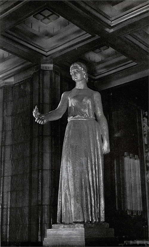 Statue Leading to the entrance of the Dining Room.