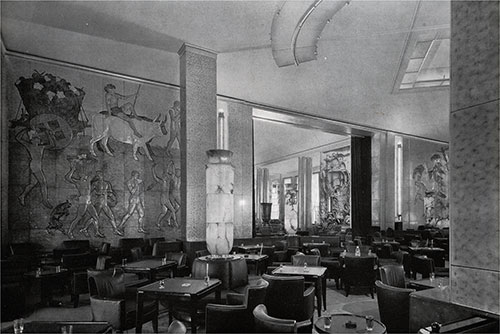 Corner of the Smoking Room and Entrance to the Grand Lounge.