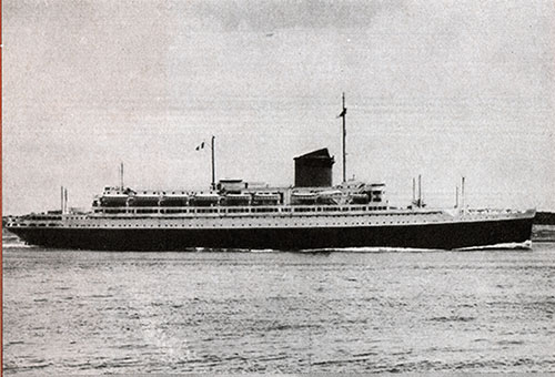 The SS Champlain of the CGT-French Line.