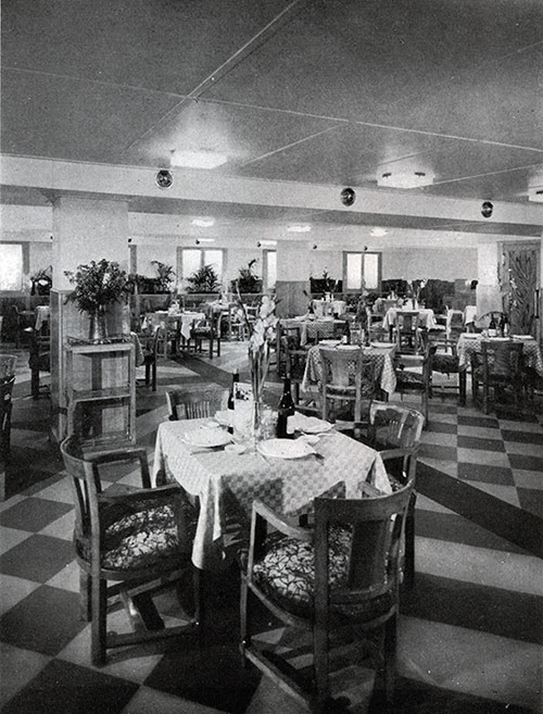 The Spacious Dining Room in Which All Tastes Are Catered to with Smiling Service.