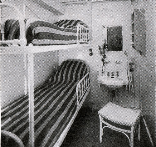 Well Ventilated Two-Berth Cabin on the SS Lafayette