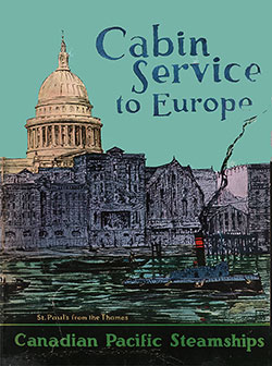 Front Cover, Cabin Service to Europe via the Canadian Pacific Steamships.
