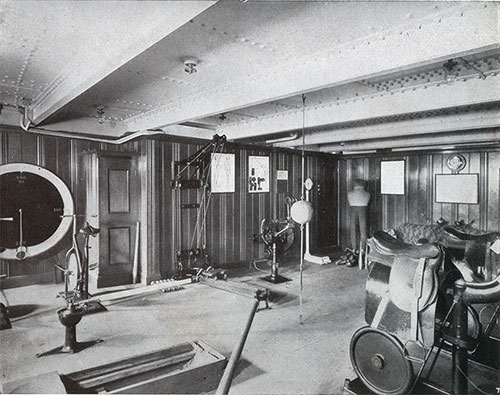 Cabin Class Gymasium on a CPOS Steamship