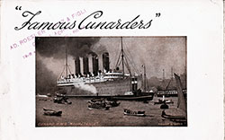 "Front Cover, ""Famous Cunarders,"" Published by the Cunard Line 21 March 1910."