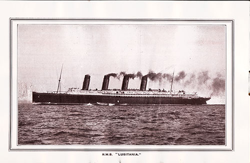 RMS Lusitania of the Cunard Line