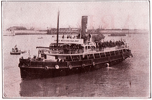 Passenger Tender Transports Passengers and Luggage between the Steamships and Fishguard.