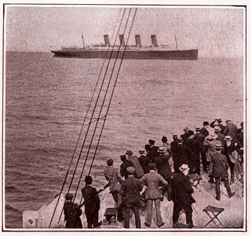 Passengers from the RMS Mauretania Coming Ashore at Fishguard