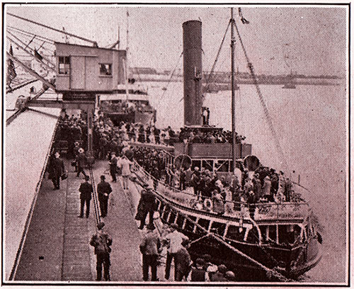 Passengers Tender At Quayside