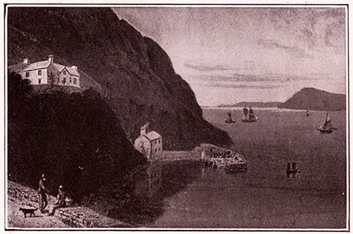 Fishguard a Hundred Years Ago (circa 1813) - (from a print of the period)