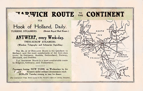 Harwich Route to the Continent