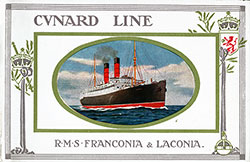 Front Cover RMS Franconia and RMS Laconia of the Cunard Line.