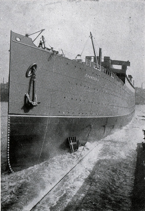 The Launch of the RMS Franconia - Taking the Water
