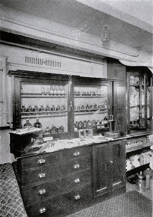 The Dispensary or Pharmacy on board the Laconia