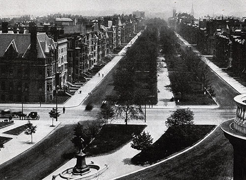 View of Commonwealth Avenue in Boston.
