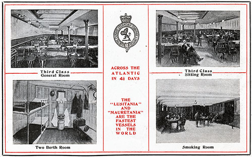 Third Class Accommodations on The Lusitania and Mauretania