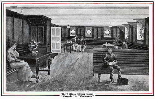 Third Class Sitting Room on the Caronia and Carmania