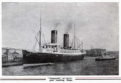 The RMS Campania at the Liverpool Landing Stage
