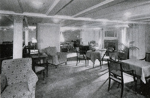Second Class Writing Room on the RMS Scythia