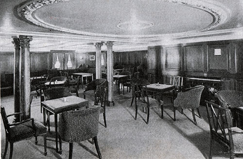Second Class Smoking Room on the RMS Scythia