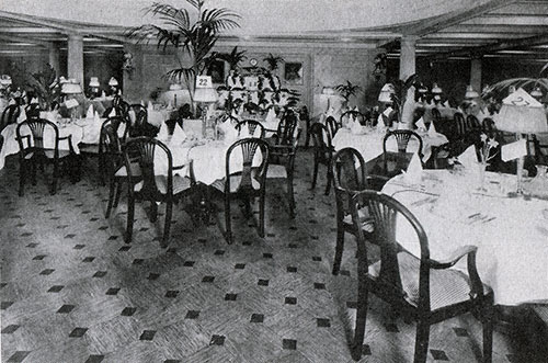 Second Class Dining Room on the RMS Samaria