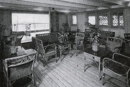 Second Class Verandah Café on the RMS Laconia