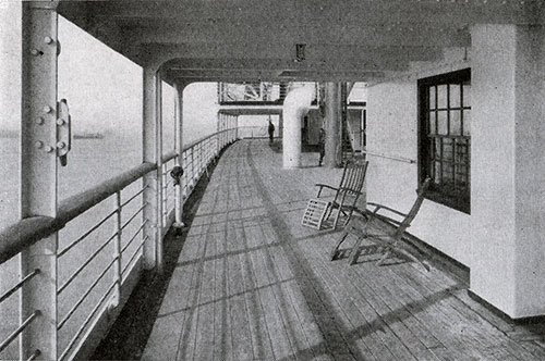 Promenade for Second Class Passengers on the RMS Scythia