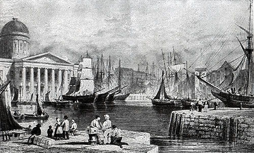 A View of Liverpool Harbor in 1837.
