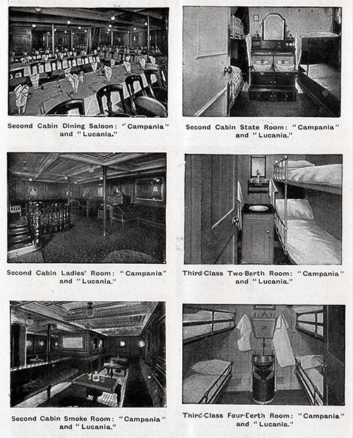 Second and Third Class Accommodations on Cunarders - 1 of 2