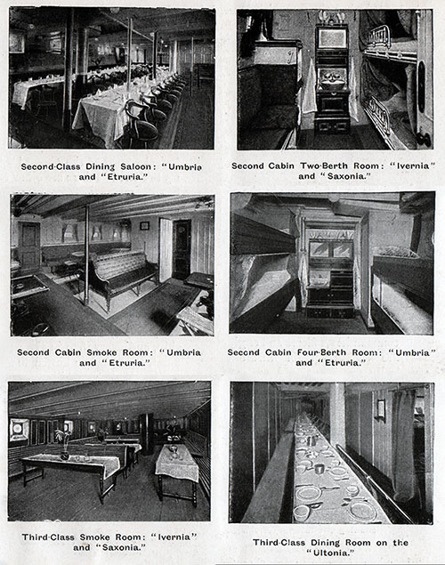 Second and Third Class Accommodations on Cunarders - 2 of 2